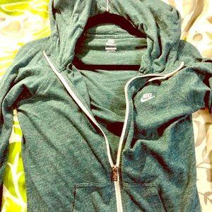 Nike Full Zip Hoodie - heathered green